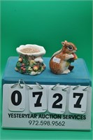 Squirrel and Tree Stump salt & pepper shakers