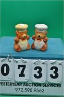 Bakery Bears salt & pepper shakers