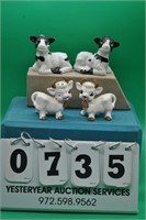 Two sets of Cow salt & pepper shakers