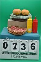 Mustard & Ketchup & hamburgers