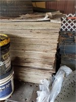 LARGE STACK OF SHEETS OF PLYWOOD - 40 TIMES YOUR M