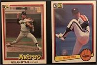 Nolan Ryan 1981 and 1983 Donruss vintage baseball