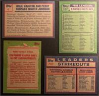 (4) Nolan Ryan Topps vintage baseball cards
