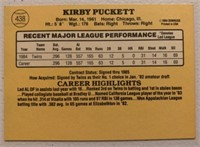 Kirby Puckett 1985 Donruss rookie baseball card