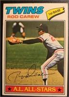 Rod Carew 1977 Topps vintage baseball card