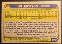 Bo Jackson 1987 Topps rookie baseball card