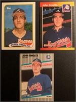John Smoltz 1989 Topps, Fleer and Donruss rookie