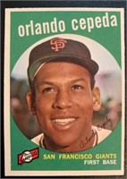 Orlando Cepeda 1959 Topps vintage baseball card