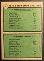 Nolan Ryan 1979 Topps SO Leaders baseball card