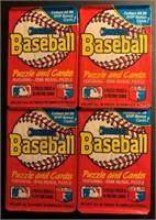 1988 Donruss baseball cards unopened wax packs (4)