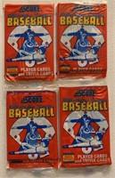 1988 Score baseball cards unopened wax packs (4)