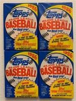 1986 Topps baseball cards unopened wax packs (4)