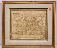 Virginia map - Thomas Cowperthwait & Co. - 1850,