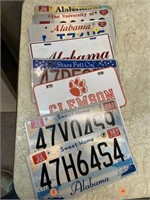 LOT OF ALABAMA LICENSE PLATES, CLEMSON CAR TAG