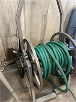 HOSE REEL AND WATER HOSE