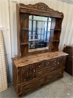 "DRESSER AND MIRROR, 60x17x80"" APPROX"
