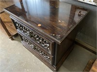 """TWO DRAWER NIGHTSTAND, 24x17x23"""""""