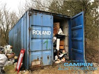 6055 NET: AUKTION O/INDHOLD FRA 40 FODS CONTAINERE (EGTVED)