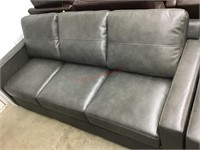 Providence leather match sofa gray MSRP $699