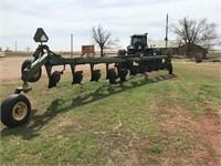 John Deere 12 bottom mold board plow,