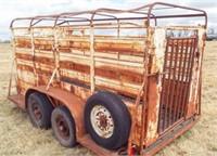 12'x5' bumper stock trailer,