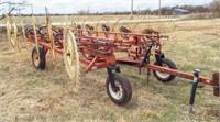 H&S Bi- Fold Rake, 12 wheel good shape