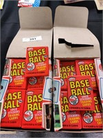 Two boxes sealed pack 1982 Fleer MLB cards