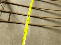 Primitive hay rake farm tool