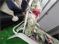 metal lounge chair w/ cushion