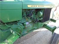 JOHN DEERE 2020 GAS TRACTOR WITH ROPS, 13.6
