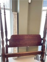 Mahogany Four Poster Rice Bed