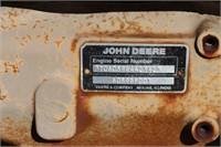 JOHN DEERE  6 CYLINDER DIESEL MOTOR & IRRIGATION