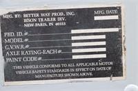 1990 TANDEM AXLE BETTER WAY LIVESTOCK TRAILER-15'