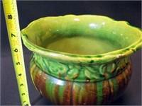 """Planter, Glazed Pottery, 7"""""""