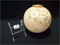 """Planter / Vase, Round, marked Anne, 9"""""""