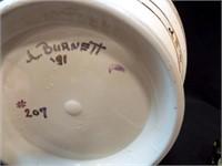 "Pottery Floor Vase, Southwest Style, 14"""