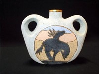 """Pottery Jug, marked Anne, 10"""""""