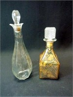 """Decanters, Clear Glass, 10"""", 13"""" (2)"""