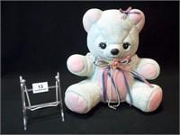 "Ceramic Teddy Bear Bank, 12"""