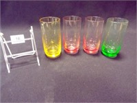 """Glasses, Multi-Color, 5.5"""" (4)"""