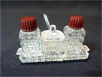 Glass S & P, Condiment on Tray, Mini