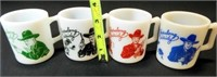 Hopalong Cassidy Mug Set (4)