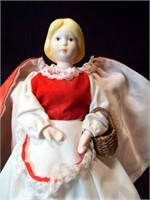 """Red Riding Hood Porcelain Doll, 9"""""""