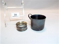 Sterling Silver Cup, Napkin Ring
