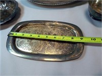 Silverplate Trays, Flatware (10+)