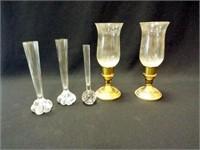 Glass Vases, Candleholders (5)