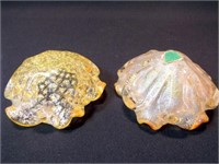 Glass Bowls, Yellow, likely Blown Glass (2)