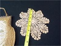 Handbag, made in Italy, Doily
