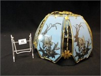 """Glass Lampshade, 14"""" x 9"""""""