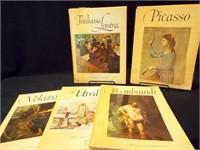 1950's Abrams Art Books w/ Prints (5)